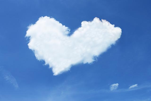 Облако в виде сердца