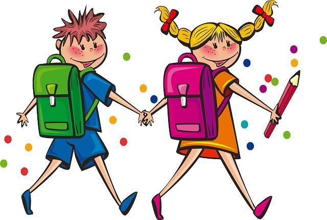 Влюбленные школьник и школьница