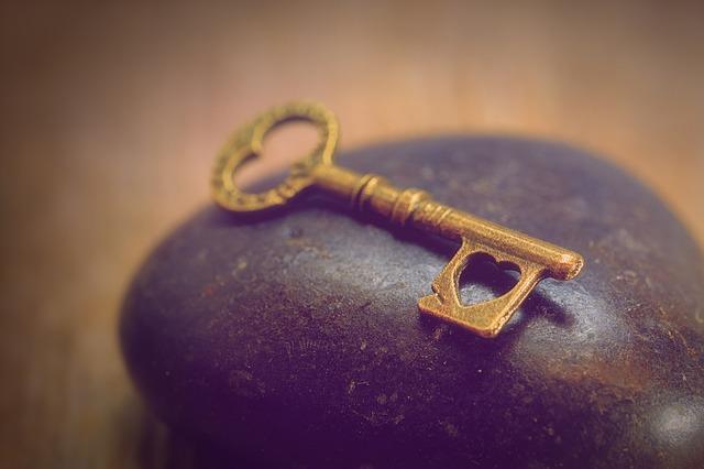 Ключ с сердечком