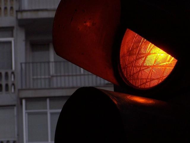 Красный свет на светафоре