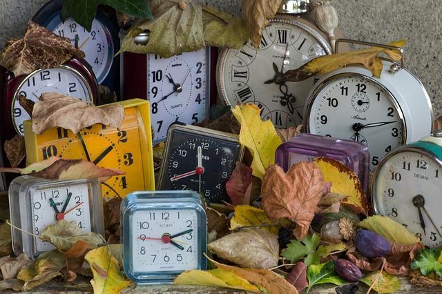 Много часов и опавшие листья
