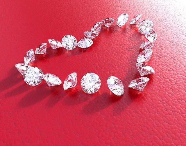 Сердце из бриллиантов