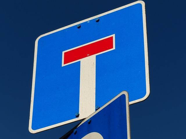 Дорожный знак - тупик