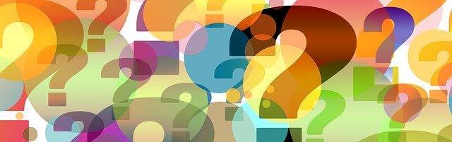 Разноцветные знаки вопроса