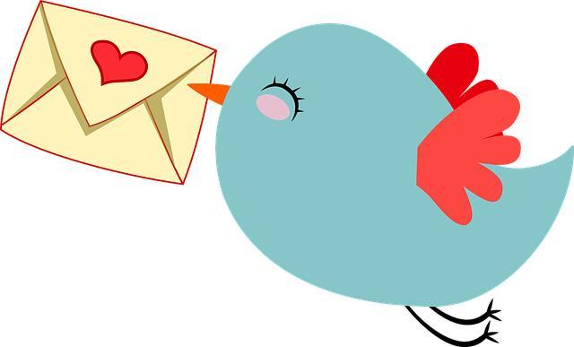 Птичка с любовным письмом в клюве